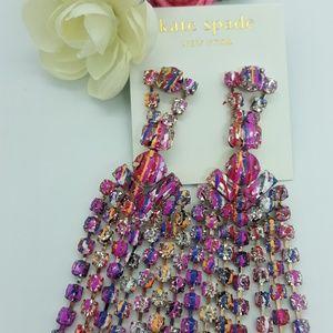 Kate Spade long fringe glitzy  earrings